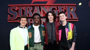 Stranger Things stars Gaten Matarazzo, Caleb McLaughlin, Finn Wolfhard and Noah Schnapp