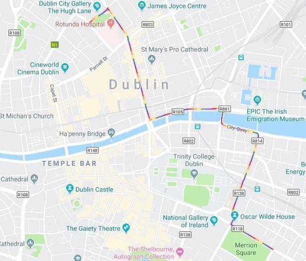 Google Map Of Dublin Ireland.Thousands Take Part In Dublin Pride Parade