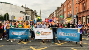 The GAA group during the parade