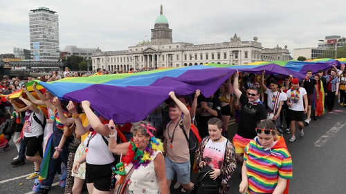Thousands took part in last year's Pride parade in Dublin