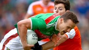 Mayo's Andy Moran and Paddy Burns of Armagh