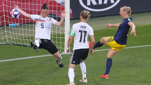 Stina Blackstenius fires home the winner for Sweden