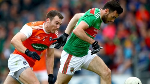 Armagh's Brendan Donaghy and Kevin McLoughlin of Mayo