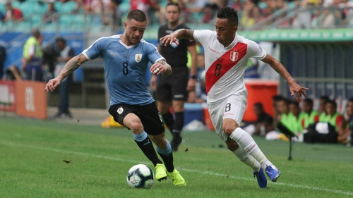 Peru edged out Uruguay on penalties