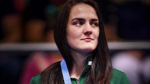 Kellie Harrington suffered the injury in the semi-final