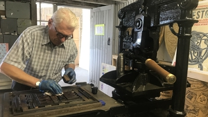 The printing presses and old-type fonts, dating back to 1831, were found in a workshop
