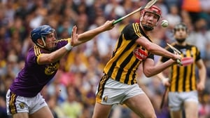 Kevin Foley (L) was Wexford's spare man against Kilkenny