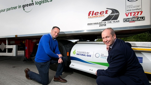 Ray Cole, Transport Director at Virginia International Logistics, and Gary Duffy from Ulster Bank's Lombard