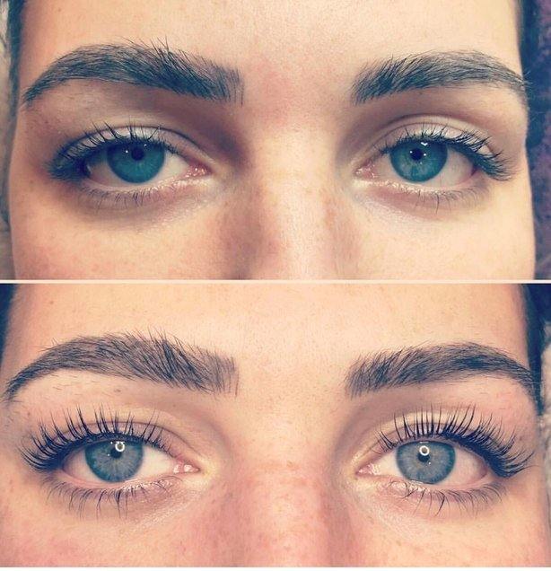 Another example of a lash lift by Kim (Atherton Cox/PA)