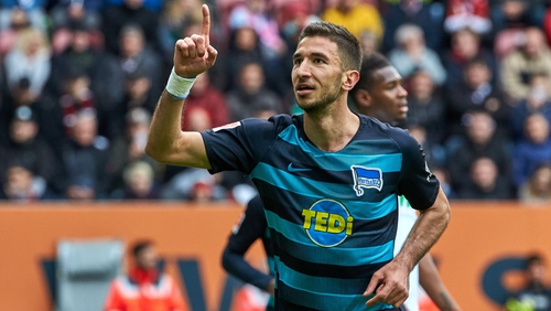Liverpool's Grujic to spend second season with Hertha