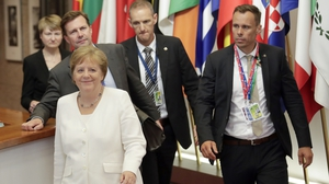 German Chancellor Angela Merkel hopes leaders can reach a compromise when they return tomorrow