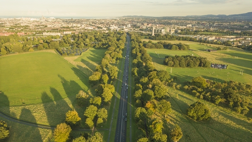 An aerial view of the Phoenix Park's Chesterfield Avenue. Photo: Getty Images