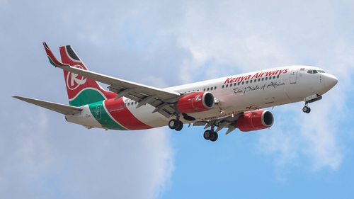 The man's body fell from the landing gear of a Kenya Airways plane