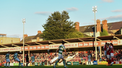 Sean Kavanagh scores Shamrock Rovers' second goal from a free kick