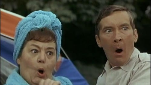 Hattie Jacques and Kenneth Williams in a scene from Carry on Camping