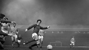 George Best in action for Manchester United against Manchester City. Photo: PA Images via Getty Images