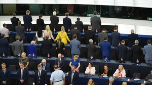 Pro-Brexit MEPs turned their backs during 'Ode to Joy'