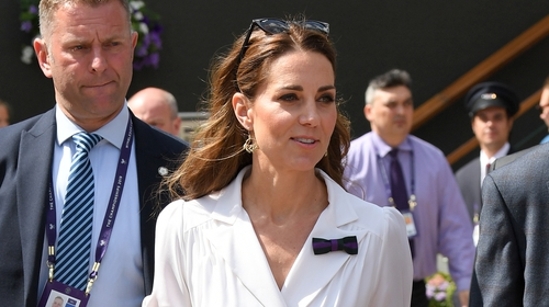 Kate looked radiant in her tennis whites. Photo: Getty