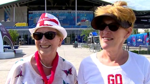 Gloria Stapleton and Julie Tough, grandmother and aunt of Lucy Bronze