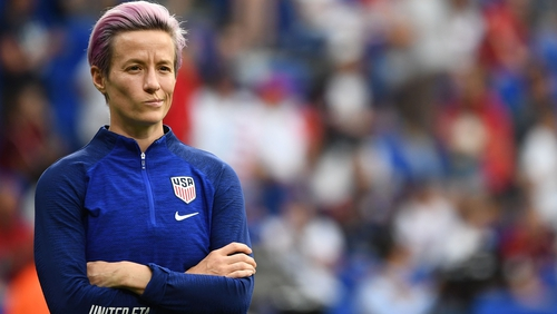 "Rapinoe, who highlighted a series of issues in her acceptance speech for her FIFA Player of the Year award last month, went on to brand the £65,000 fine given to Bulgaria ""an absolute joke"""