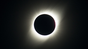 View of the solar eclipse at La Silla Observatory in Chile