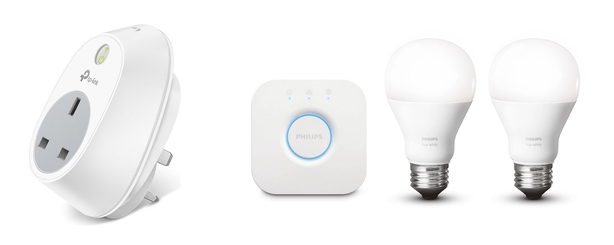 tp-link smart plug and Philips Hue lighting