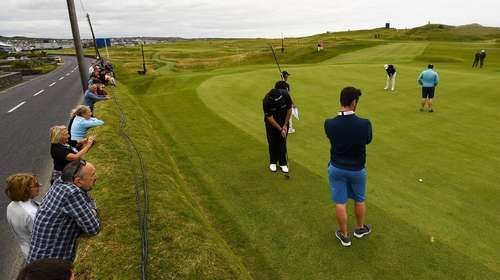 Shane Lowry on the 4th at Lahinch