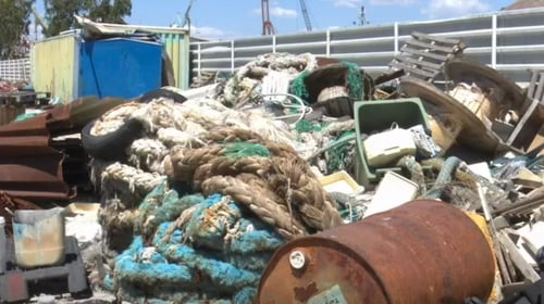 Tonnes of plastic waste and ghost nets are removed from Greek seas every month