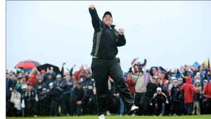 Shane Lowry celebrates his win in 2009