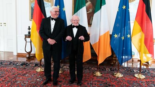 Frank-Walter Steinmeier hosted a state dinner for Michael D Higgins at the Schloss Bellevue residence