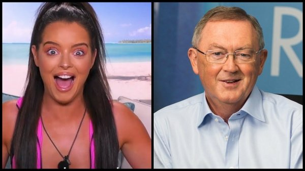RTÉ Radio 1 listeners were left 'crying laughing' when Sean O'Rourke dropped Love Island star Maura's favourite phrase...