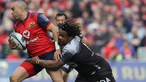 Mathieu Bastareaud in action against Munster in 2018