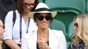 Meghan made a surprise appearance at Wimbledon. Photo: Getty