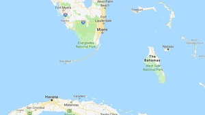 The helicopter was en route to Ford Lauderdale from the Bahamas