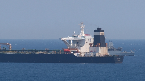 Authorities in Gibraltar said they suspected the tanker was carrying crude to Syria in violation of EU sanctions