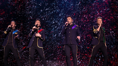 Kian Egan, Shane Filan, Mark Feehily and Nicky Byrne are Westlife