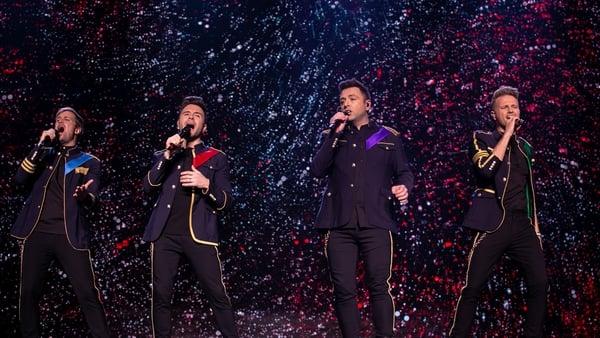 Kian Egan, Shane Filan, Mark Feehily and Nicky Byrne are Westlife