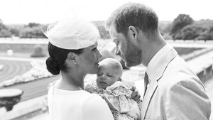 Meghan and Harry celebrate Archie's christening. Photo credit: Chris Allerton