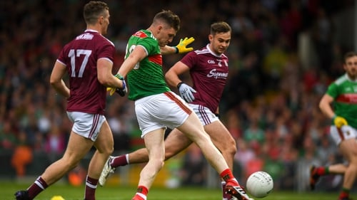 Two first-half goals proved enough for Mayo in the end