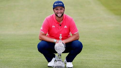 Jon Rahm finished the tournament on 16 under par at Lahinch Golf Club