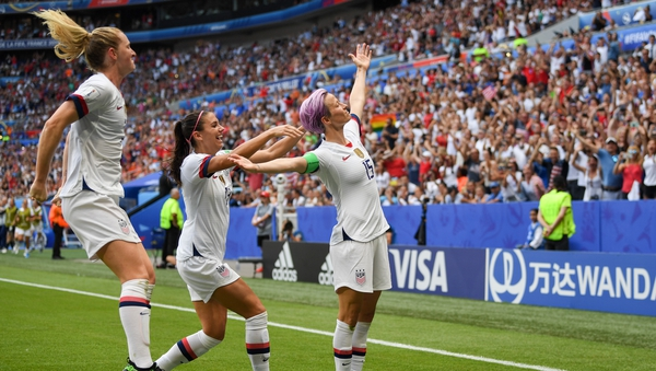 Megan Rapinoe lifted the World Cup for the USA