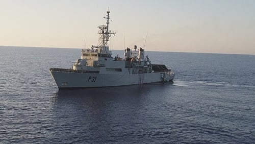 LÉ Eithne one of two ships tied up in port over crewing levels