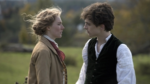 Saoirse Ronan and Timothée Chalamet in Little Women - In cinemas on December 26