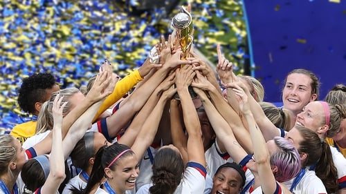 The victorious USA team
