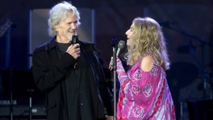 Friends reunited - Kris Kristofferson and Barbra Streisand onstage in Hyde Park on Sunday night