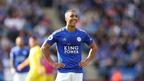 Youri Tielemans in action for the Foxes this year