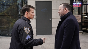 Will Estes and Donnie Wahlberg in Blue Bloods