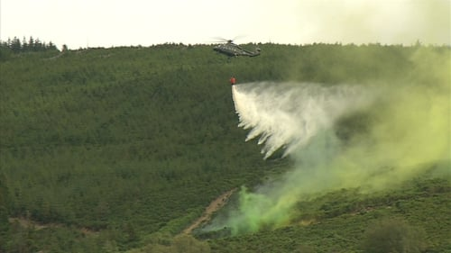 The Air Corps has said it monitors the threat levels for forest and gorse fires