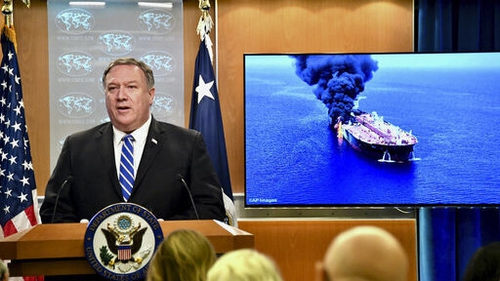 Last month, US Secretary of State Mike Pompeo blamed Iran for attacks on two oil tankers travelling in the Strait of Hormuz