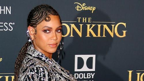 Beyoncé at the US premiere of The Lion King